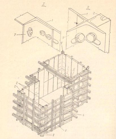 Сборка блока опалубки фундамента сложной формы