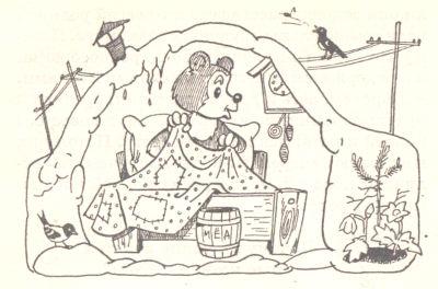 медведь - рисунок