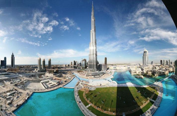 бурдж Дубай самое высокое здание в